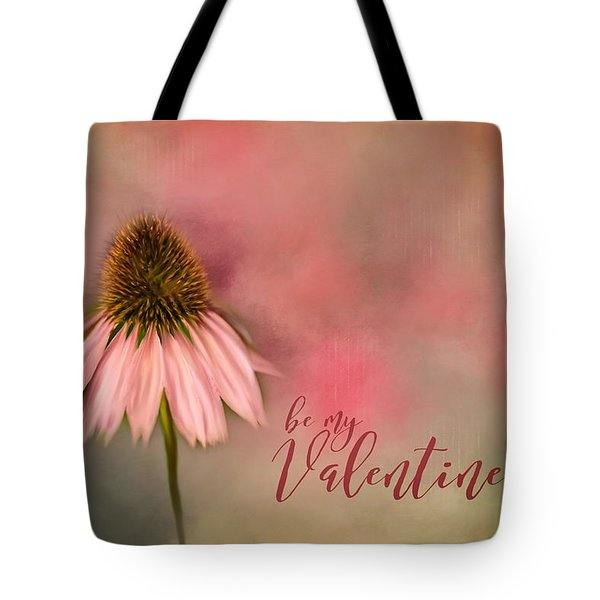 Be My Valentine Tote Bag by Mary Timman