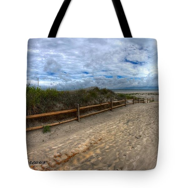 Beach Access Tote Bag by John Loreaux