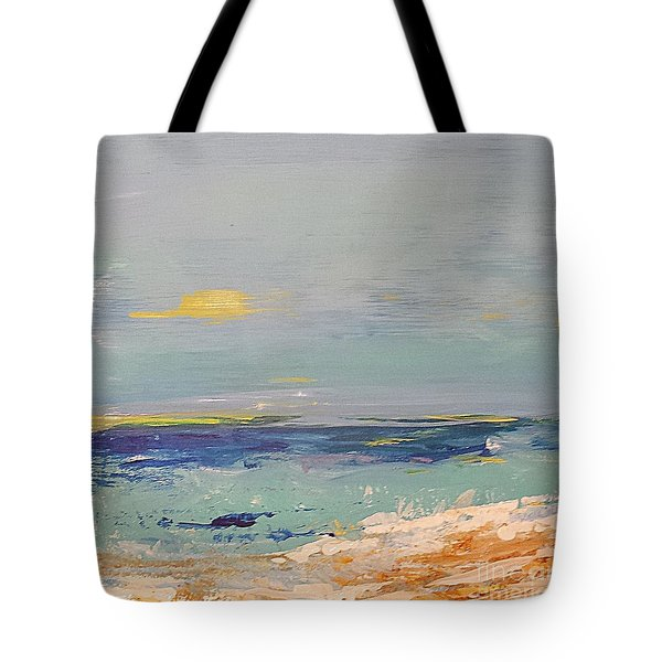 Tote Bag featuring the painting Beach by Diana Bursztein