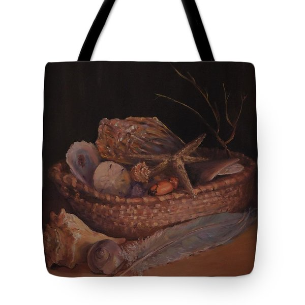 Tote Bag featuring the painting Beach Peace  by Dorothy Allston Rogers
