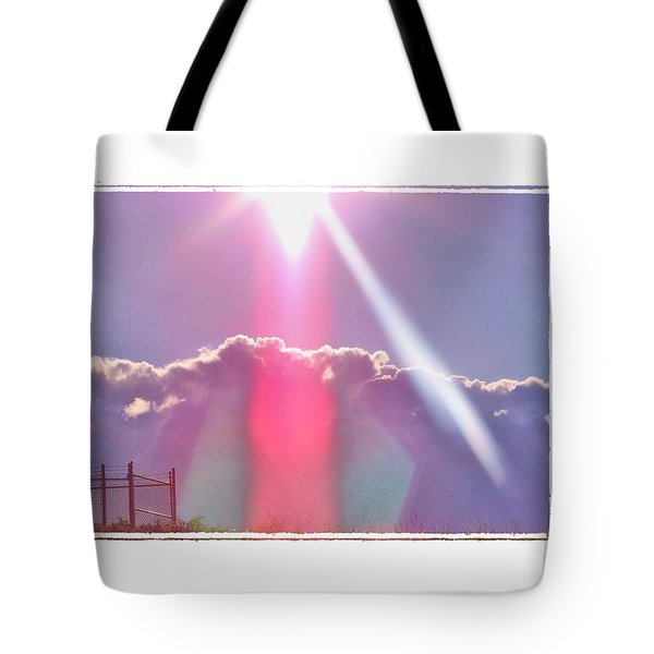 Beam Me Up Tote Bag by Shirley Moravec