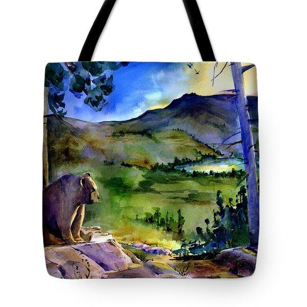 Bearly Light At Castle Peak Tote Bag