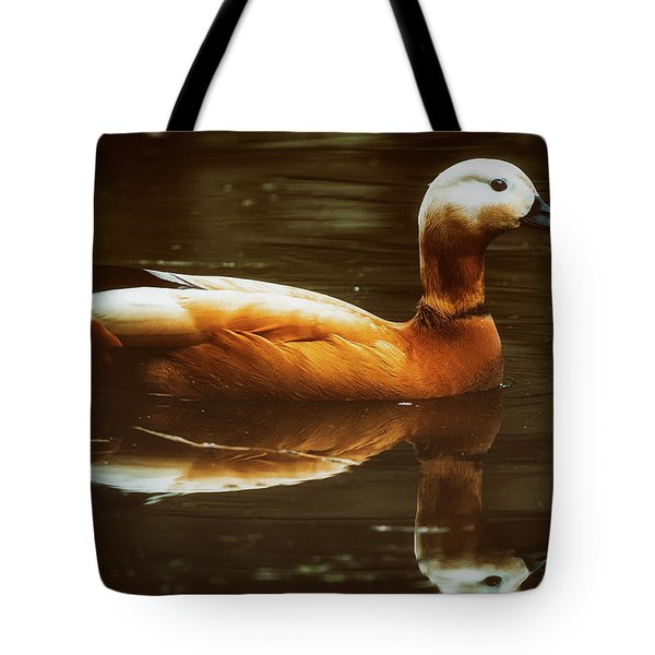 Tote Bag featuring the photograph Beautiful Rust Goose by The 3 Cats