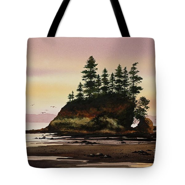 Tote Bag featuring the painting Beautiful Shore by James Williamson