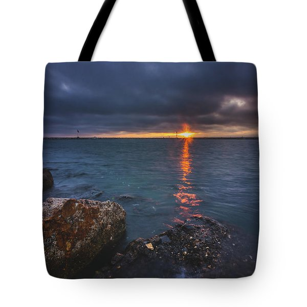 Tote Bag featuring the photograph Beautiful Sunset At Marina Del Rey by Andy Konieczny