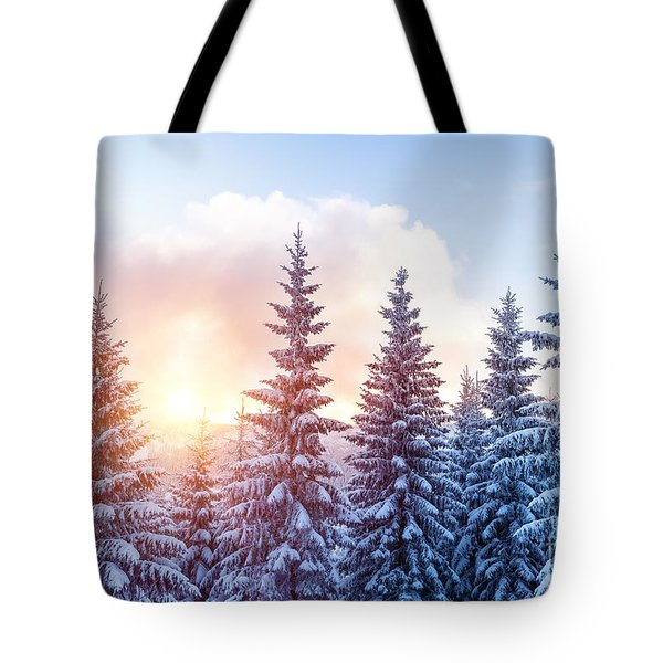 Beautiful Winter Forest Tote Bag