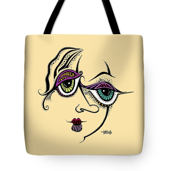 Tote Bag featuring the painting Beauty In Imperfection by Tanielle Childers