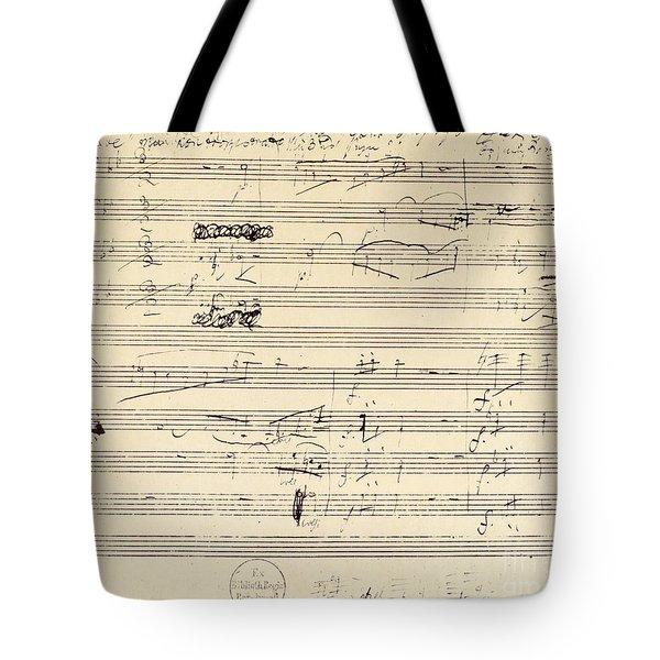 Beethoven Manuscript, 1826 Tote Bag by Granger