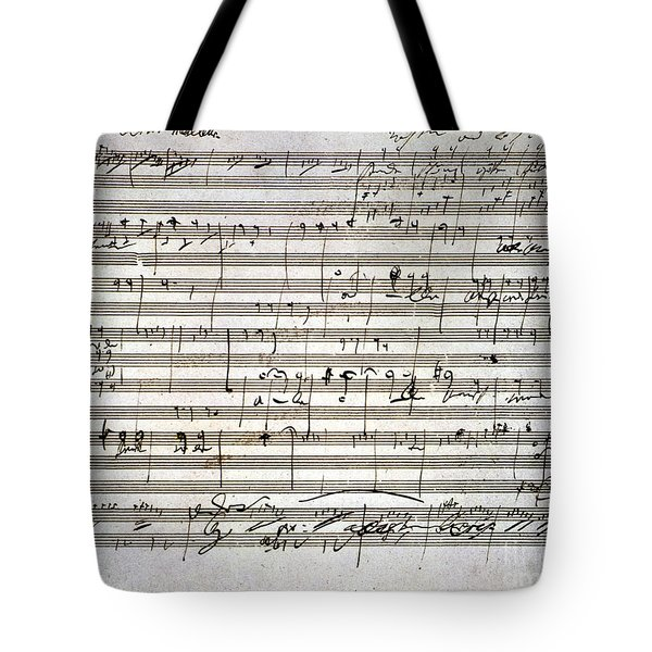 Tote Bag featuring the photograph Beethoven Manuscript by Granger