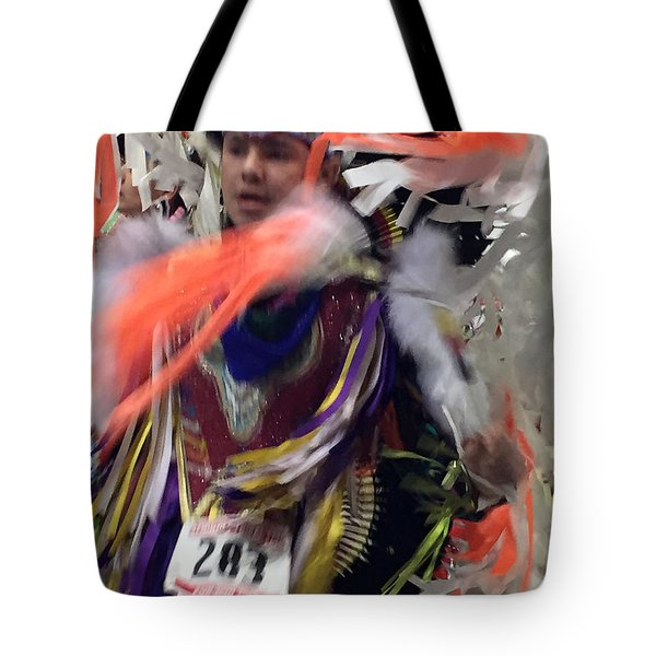 Behind The Feathers Tote Bag by Audrey Robillard