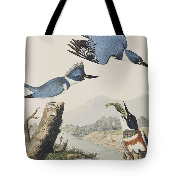 Belted Kingfisher Tote Bag by John James Audubon