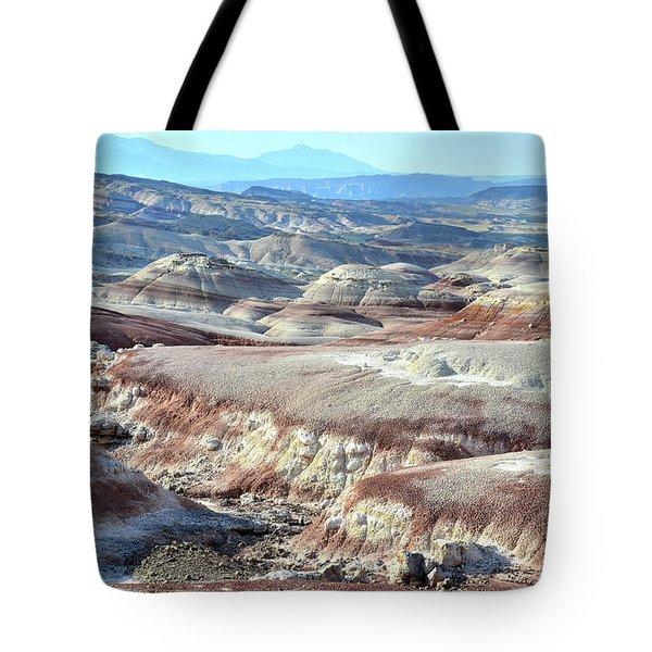 Bentonite Clay Dunes In Cathedral Valley Tote Bag