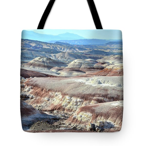 Bentonite Clay Dunes In Cathedral Valley Tote Bag by Ray Mathis