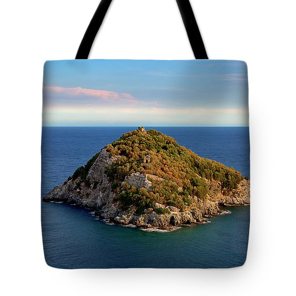 Tote Bag featuring the photograph Bergeggi Island by Enrico Pelos