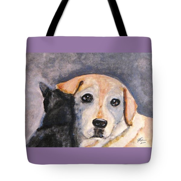 Best Friends Tote Bag by Angela Davies