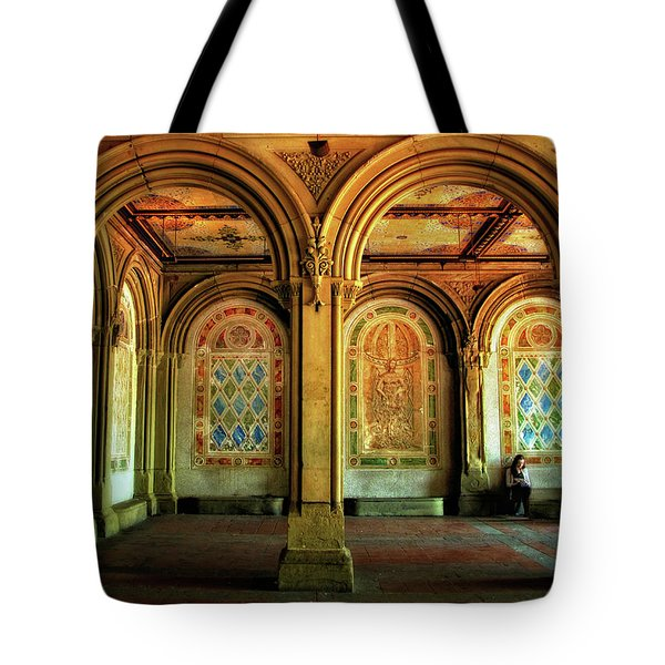 Tote Bag featuring the photograph Bethesda Terrace Arcade by Jessica Jenney