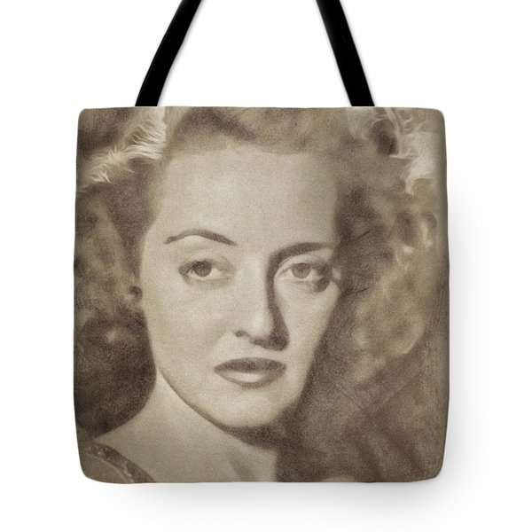Bette Davis Vintage Hollywood Actress Tote Bag