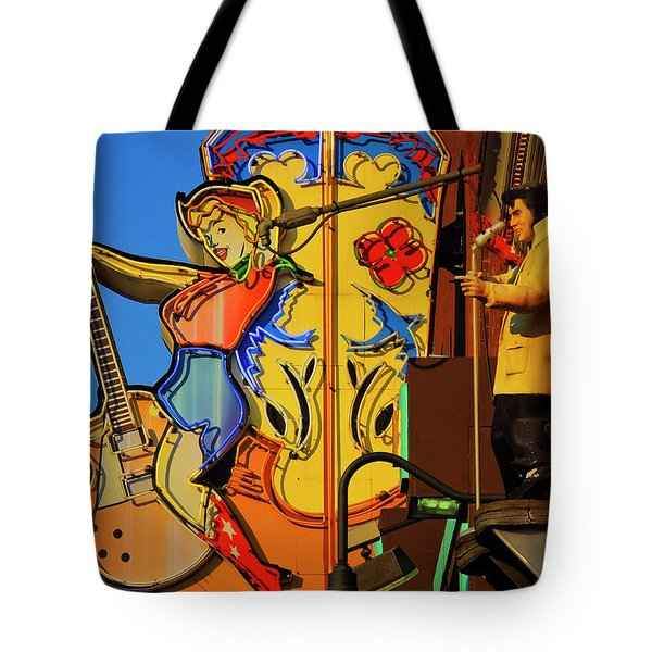 Tote Bag featuring the photograph Betty Boots by Skip Hunt