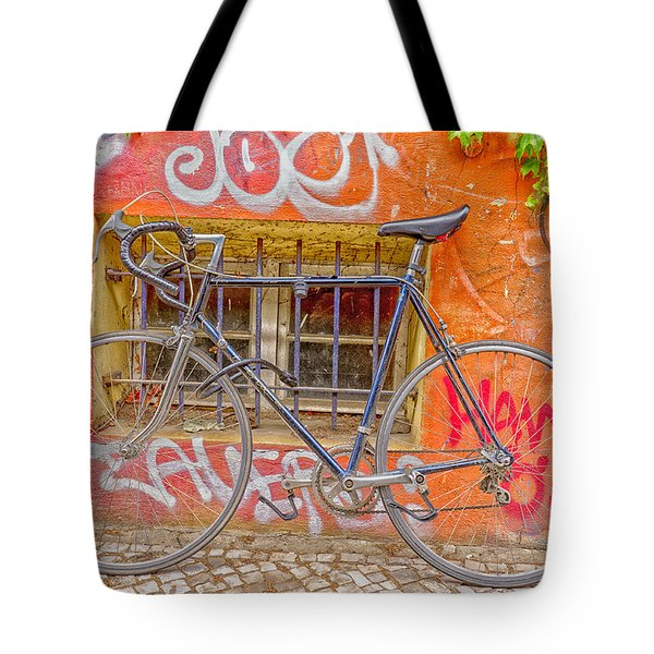 Bicycles Tote Bag by Uri Baruch