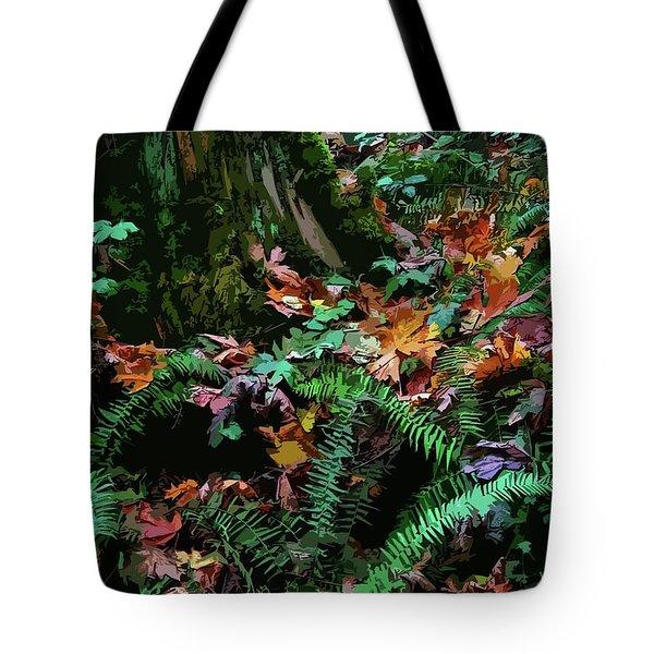 Big Leaf Maple Leaves Tote Bag by Anne Havard