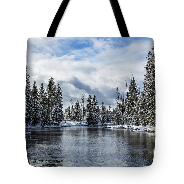 Big Springs In Winter Idaho Journey Landscape Photography By Kaylyn Franks Tote Bag