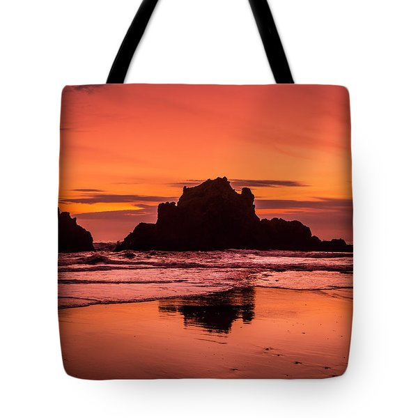Big Sur Sunset Tote Bag