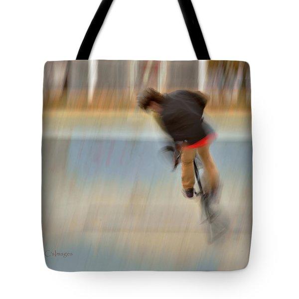 Biking  The Skateboard Park 4 Tote Bag