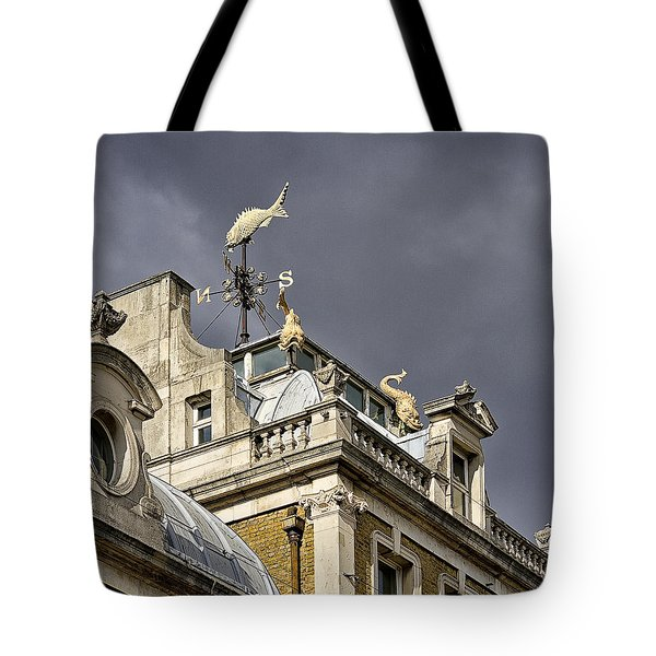Billingsgate Fish Market London Tote Bag by Shirley Mitchell
