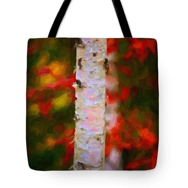 Birch Tree Tote Bag by Andre Faubert