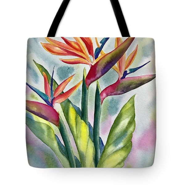 Bird Of Paradise Flowers Tote Bag