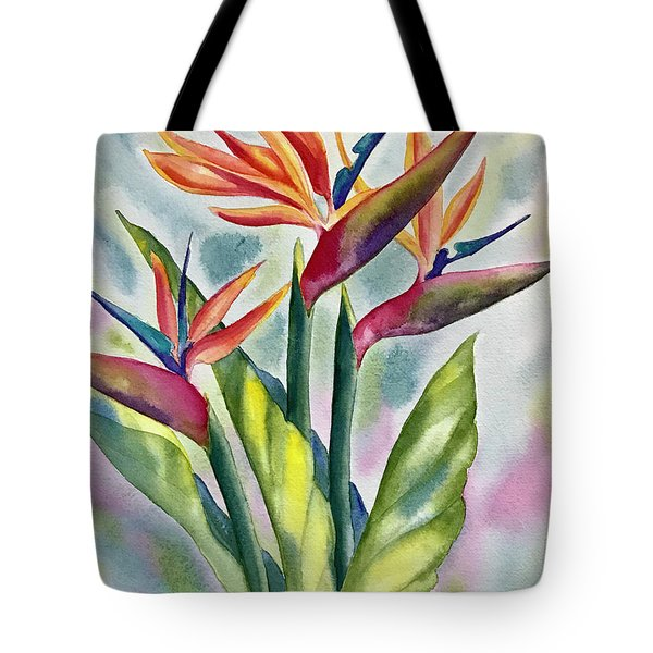 Bird Of Paradise Flowers Tote Bag
