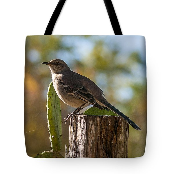 Bird On A Post Tote Bag