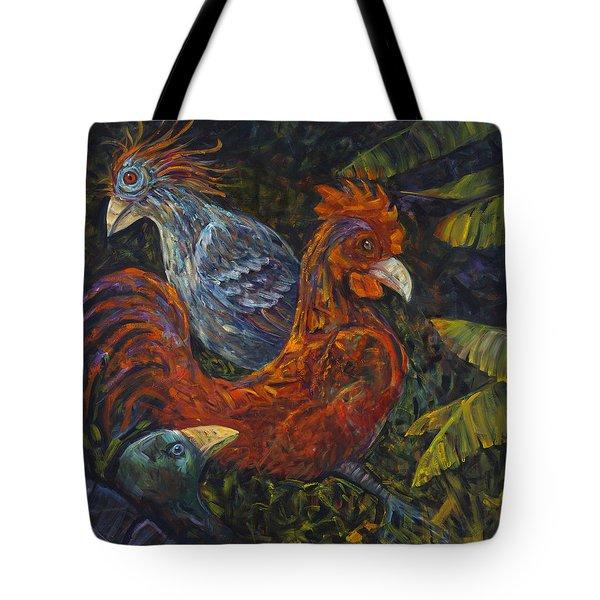 Birditudes Tote Bag by Claudia Goodell