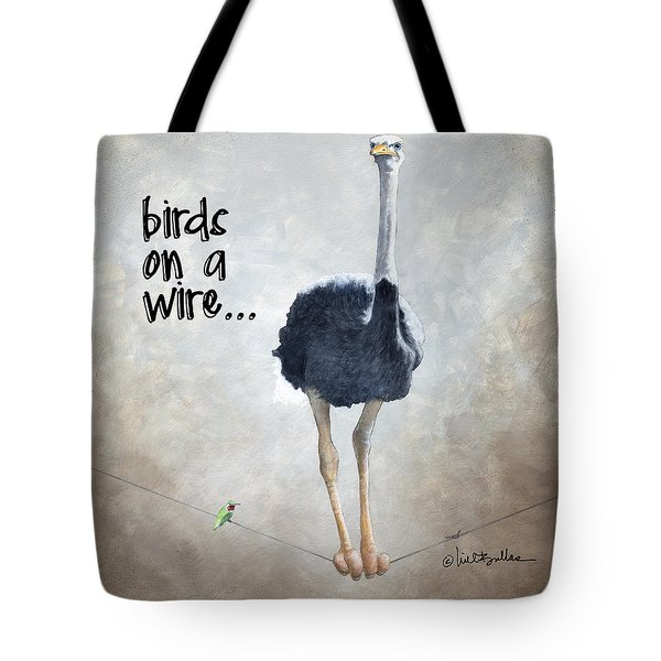 Birds On A Wire... Tote Bag