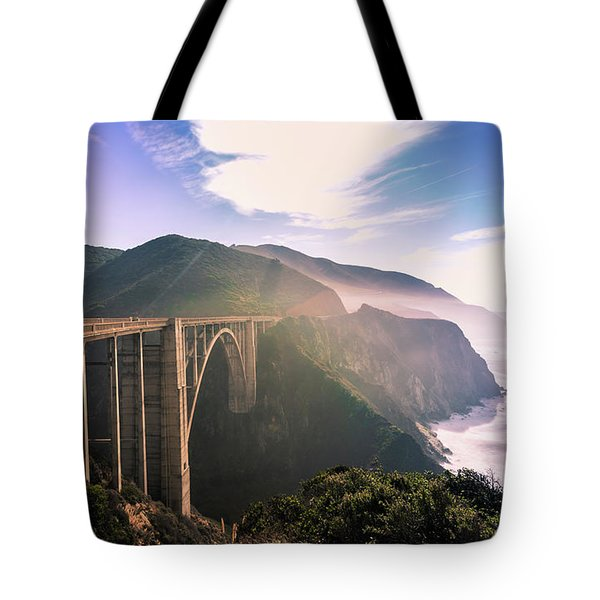 Tote Bag featuring the photograph Bixby Creek Bridge,big Sur by Jingjits Photography