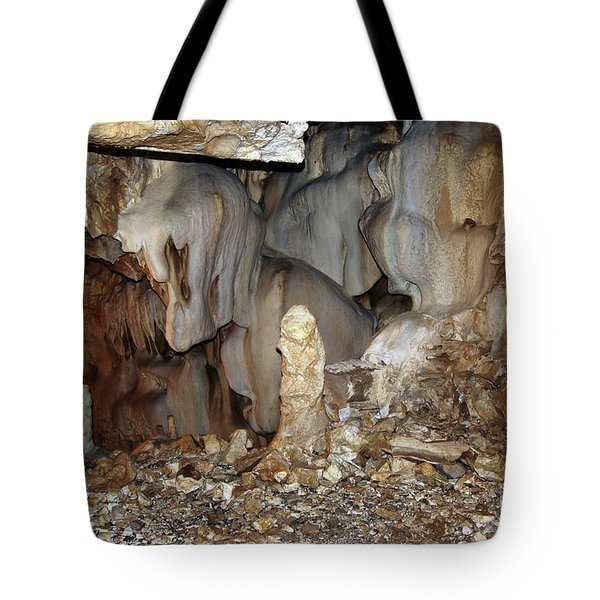 Tote Bag featuring the photograph Bizarre Mineral Formations In Stalactite Cavern by Michal Boubin