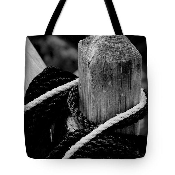 Tote Bag featuring the photograph Black And White by Corinne Rhode