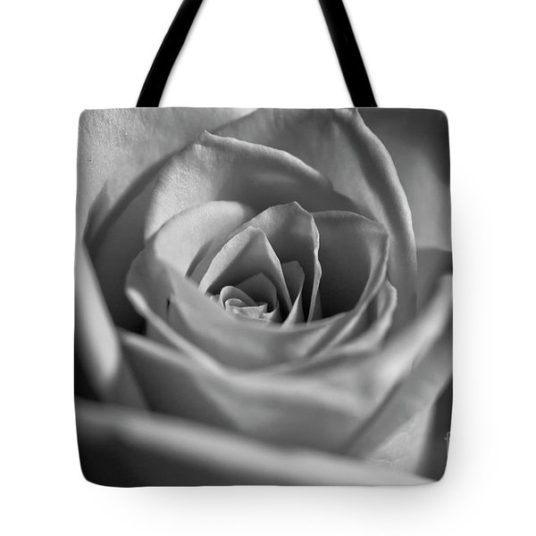 Tote Bag featuring the photograph Black And White Rose by Micah May
