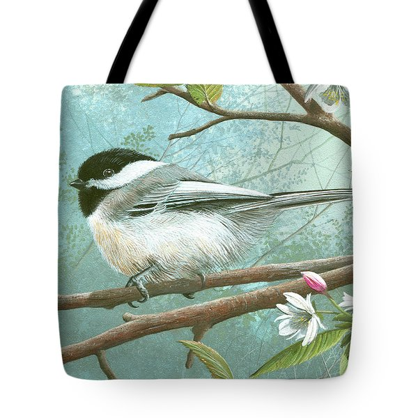 Black Cap Chickadee Tote Bag