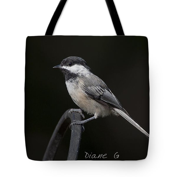 Black-capped Chickadee Tote Bag by Diane Giurco