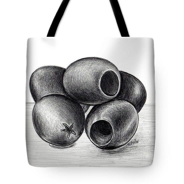 Black Olives Tote Bag