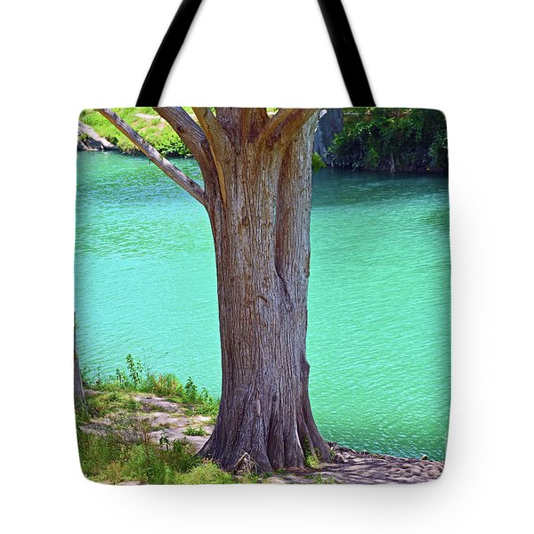 Blanco River Texas Tote Bag by Ray Shrewsberry