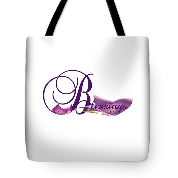 Tote Bag featuring the digital art Blessings by Ann Lauwers