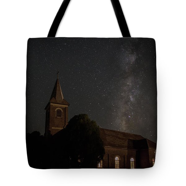 Blood Moon Over St. Johns Church Tote Bag