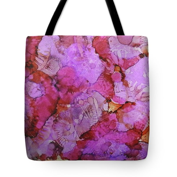 Tote Bag featuring the painting Blossoms Ink #1 by Sarajane Helm