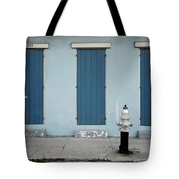 Blue And Silver At 1243 Tote Bag