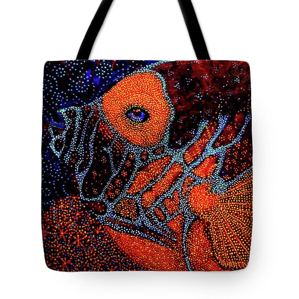 Dreamtime Blue Angel Tote Bag