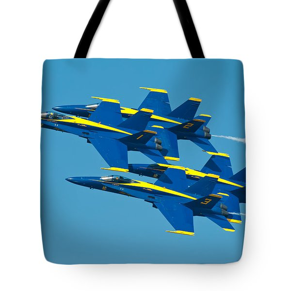 Blue Angels Tote Bag by Sebastian Musial