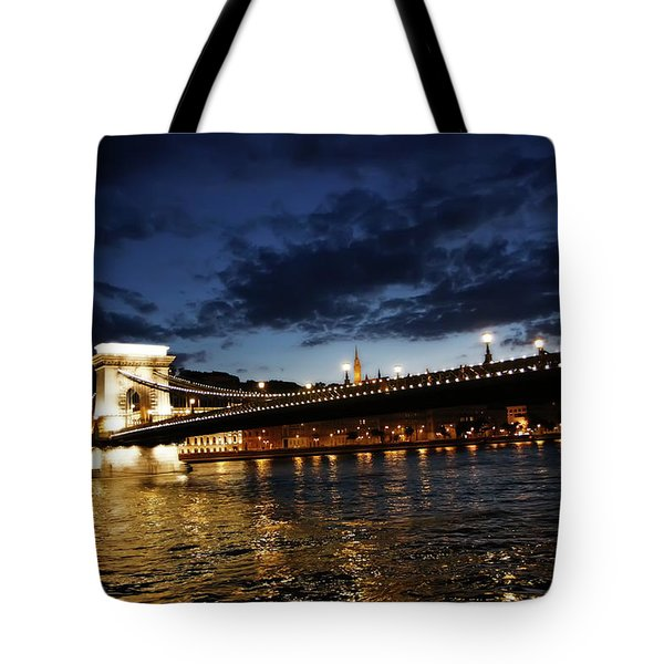 Blue Danube Sunset Budapest Tote Bag