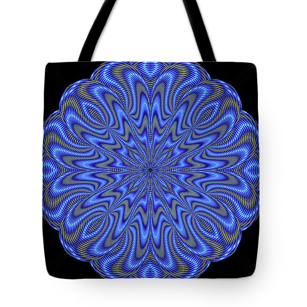 Blue Fire Tote Bag